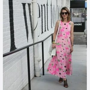 FRENCH CONNECTION Poppy Silk Maxi DRESS 8